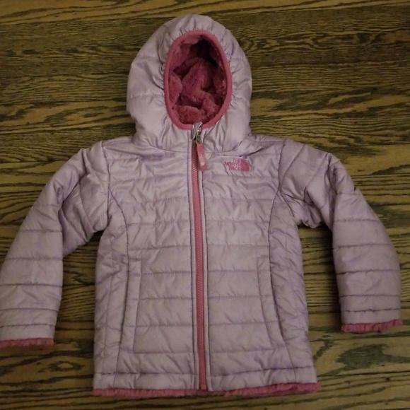 31f9be2ff North Face Girls Reversible Mossbud Swirl Coat 3T
